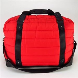 💢Red Quilted CYNTHIA ROWLEY Puffer Travel Bag💢